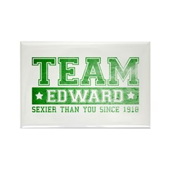 Team Edward (Sexy) - Green Rectangle Magnet