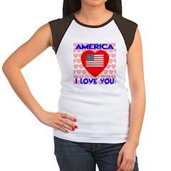 America I Love You Women's Cap Sleeve T-Shirt