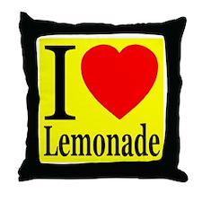 I Love Lemonade Throw Pillow