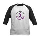Purple Ribbon For My Mom 4 Tee