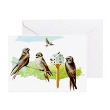 Purple Martin Bird Greeting Cards (Pk of 20)