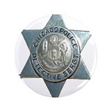 "Chicago, Illinois Police Dete 3.5"" Button (100 pac"