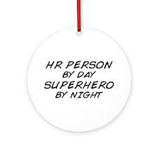 HR Superhero by Night Ornament (Round)
