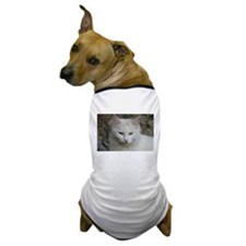 White Cat Photo Dog T-Shirt