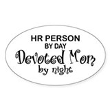 HR Devoted Mom Oval Decal