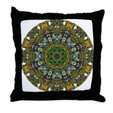 Hummingbird Mandala Throw Pillow