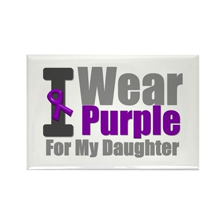 I Wear Purple (Daughter) Rectangle Magnet (10 pack