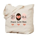 Peace Love Run 13.1 Tote Bag
