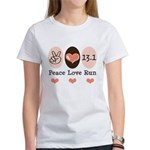Peace Love Run 13.1 Women's T-Shirt