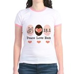 Peace Love Run 13.1 Jr. Ringer T-Shirt