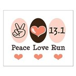 Peace Love Run 13.1 Small Poster