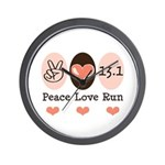 Peace Love Run 13.1 Wall Clock