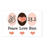 Peace Love Run 13.1 Postcards (Package of 8)