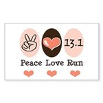 Peace Love Run 13.1 Rectangle Sticker