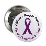 "Purple Ribbon For My Daughter-In-Law 4 2.25"" Butto"