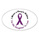 Purple Ribbon For My Daughter-In-Law 4 Decal