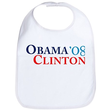 Obama Clinton '08 Bib