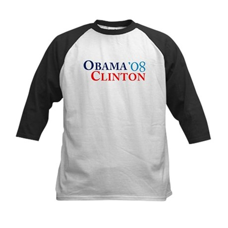 Obama Clinton '08 Kids Baseball Jersey