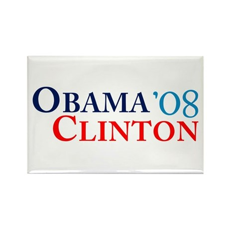 Obama Clinton '08 Rectangle Magnet