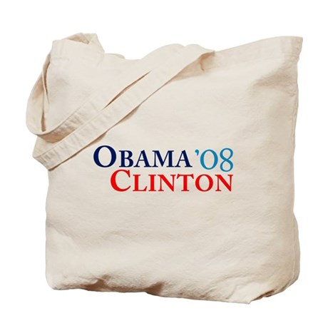 Obama Clinton '08 Tote Bag