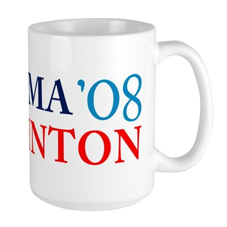 Obama Clinton '08 Large Mug