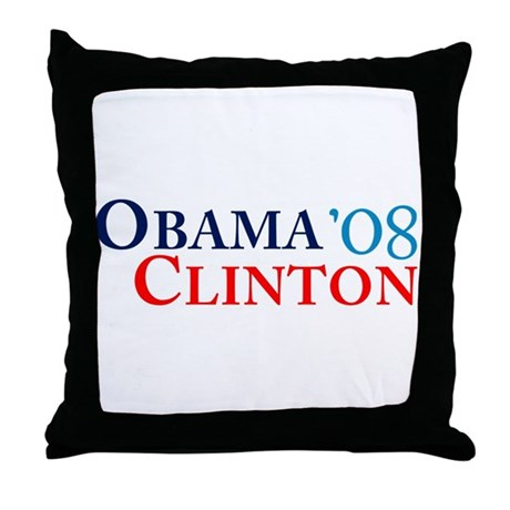 Obama Clinton '08 Throw Pillow