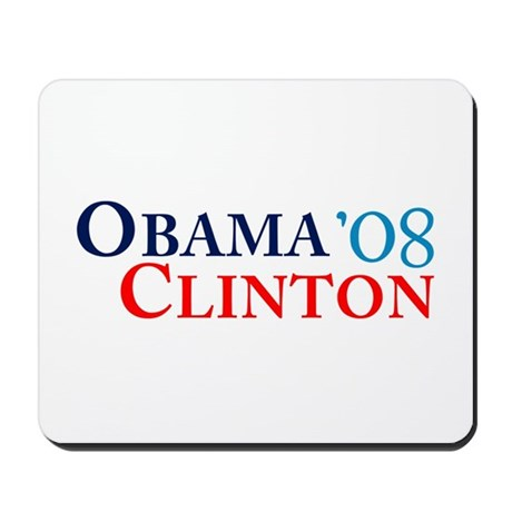 Obama Clinton '08 Mousepad
