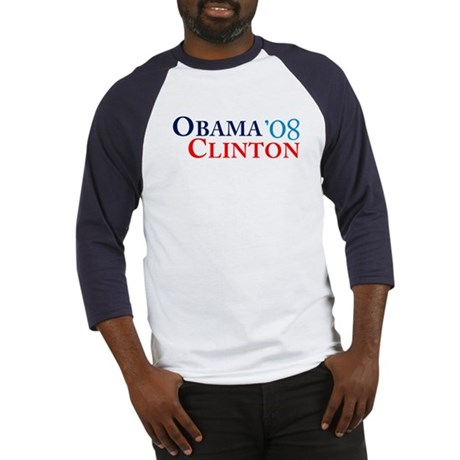 Obama Clinton '08 Baseball Jersey