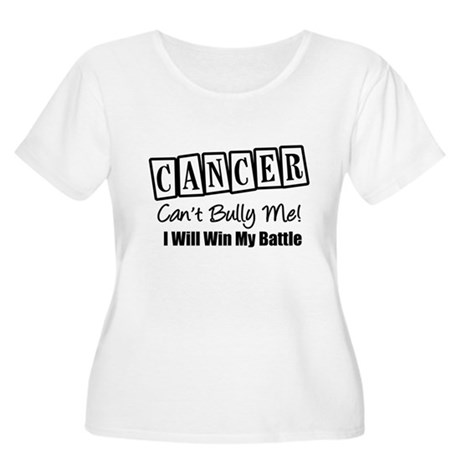 Cancer Can't Bully Me Women's Plus Size Scoop Neck