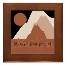 RockClimberGirl Framed Tile
