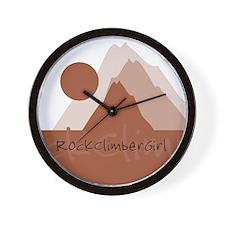RockClimberGirl Wall Clock