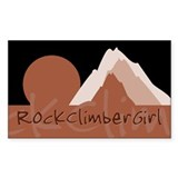 RockClimberGirl Rectangle Sticker 50 pk)