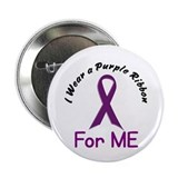 "Purple Ribbon For ME 4 2.25"" Button"