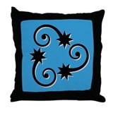 Swirly Stars Throw Pillow