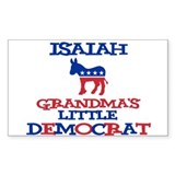 Isaiah - Grandma's Democrat Rectangle Decal