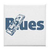 Harmonica Blues Tile Coaster