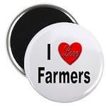 I Love Farmers for Farm Lovers Magnet
