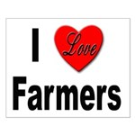 I Love Farmers for Farm Lovers Small Poster
