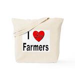 I Love Farmers for Farm Lovers Tote Bag