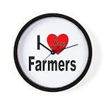 I Love Farmers for Farm Lovers Wall Clock