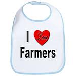 I Love Farmers for Farm Lovers Bib