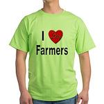 I Love Farmers for Farm Lovers Green T-Shirt