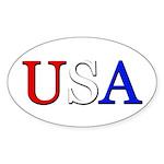 USA Oval Sticker