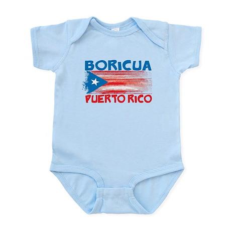 Puerto Rico Stripes Infant Bodysuit