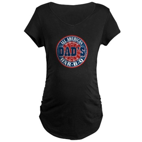 Dad's All American Bar-B-Q Maternity Dark T-Shirt