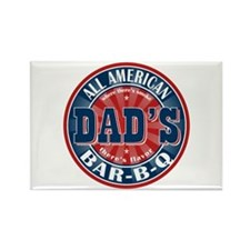 Dad's All American Bar-B-Q Rectangle Magnet (100 p