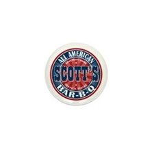 Scott's All American Bar-B-Q Mini Button