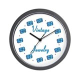 Vintage Jewelry Wall Clock