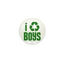 I RECYCLE Boys Mini Button (10 pack)
