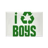I RECYCLE Boys Rectangle Magnet (10 pack)